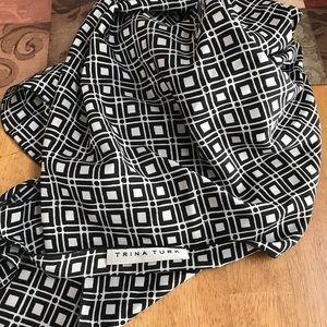 Brand new Trina Turk scarf black white design